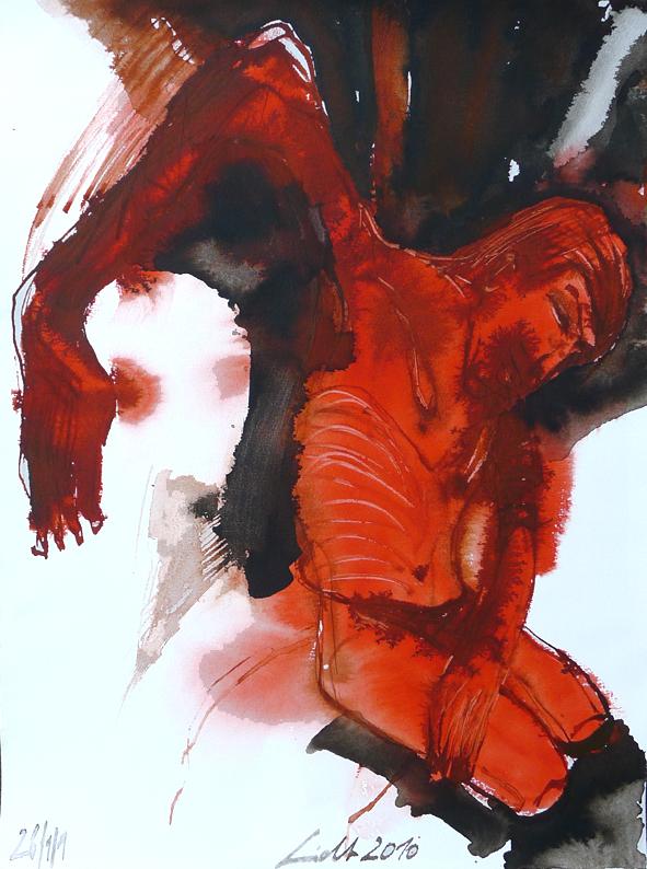 """""""Kreuzigung"""", 2007-2011, Tuschzeichnungen, 40x30 cm"""