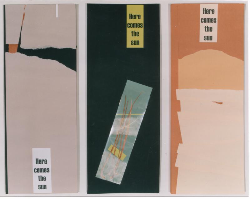 """Mappen """"Here comes the sun"""", (zum gleichnamigen Faxprojekt), 1997, buchbinderische Arbeit"""