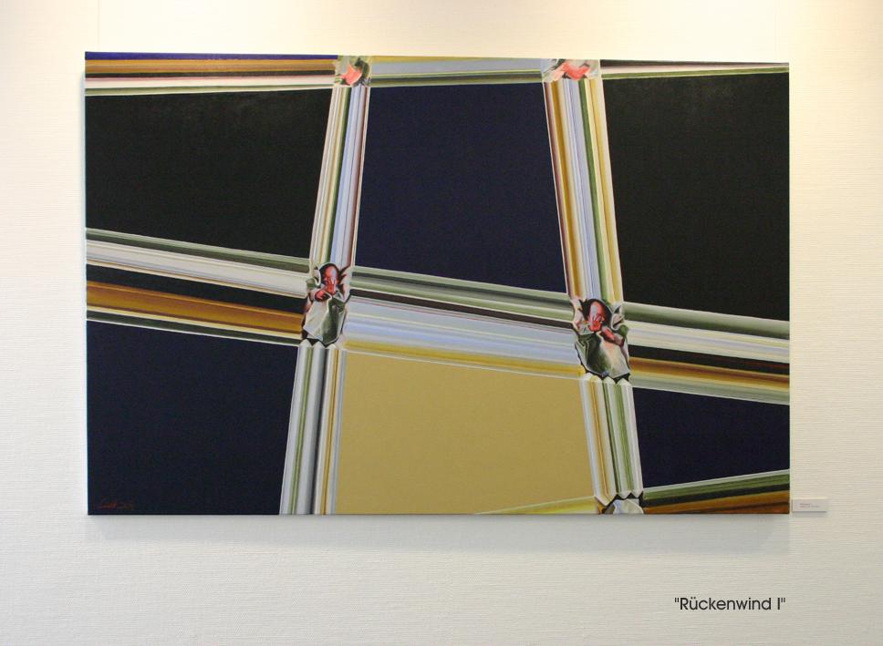 """""""Rückenwind I"""", 2004, Öl auf Leinwand, 130x200 cm"""