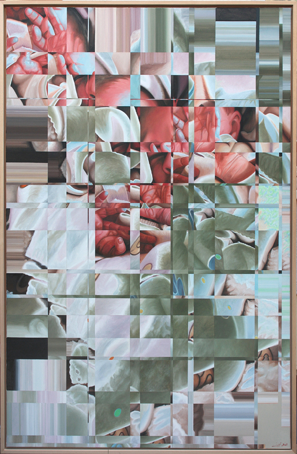"""""""Rückenwind I"""", 2005, Öl auf Leinwand, 200x130 cm"""